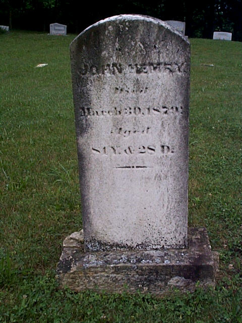 John Hemry' Jr. grave stone in Asbury Cemetery aside his wife's (Eleanor Capper) grave. His father was beginning of a large Hemry family through out the USA.